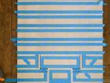 original-oversized-striped-diy-ripple-wall-art-5