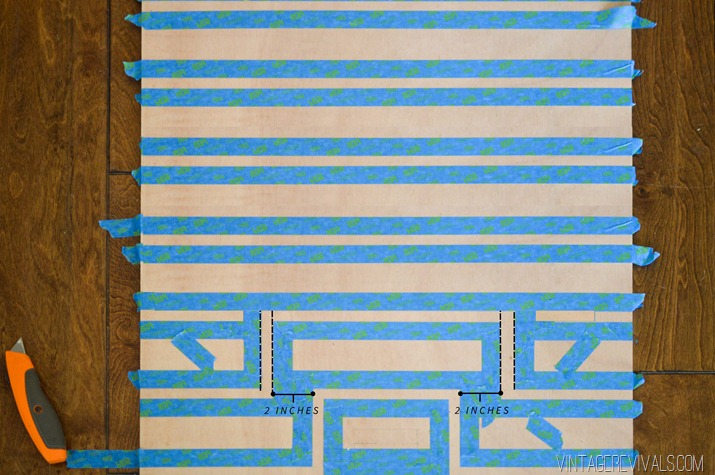 Picture Of original oversized striped diy ripple wall art  5