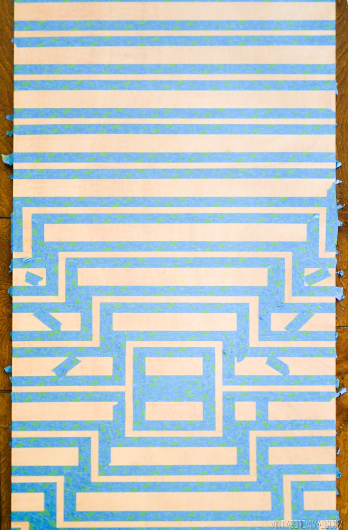 Picture Of original oversized striped diy ripple wall art  6