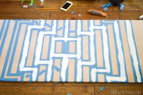 Original Oversized DIY Striped Ripple Wall Art