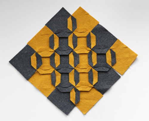 Original Trivet With A Geometrical Pattern
