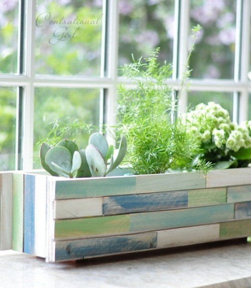 Cool And Original Wooden Planter Renovation