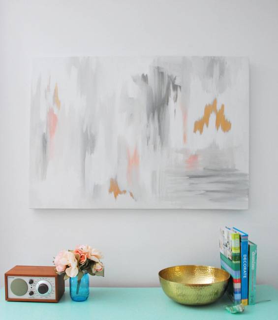 Picture Of oversized diy abstract wall art piece  1