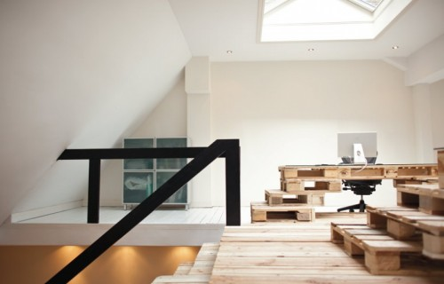 Pallet Office And Staircase