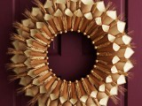 Paper Cone Thanksgiving Wreath