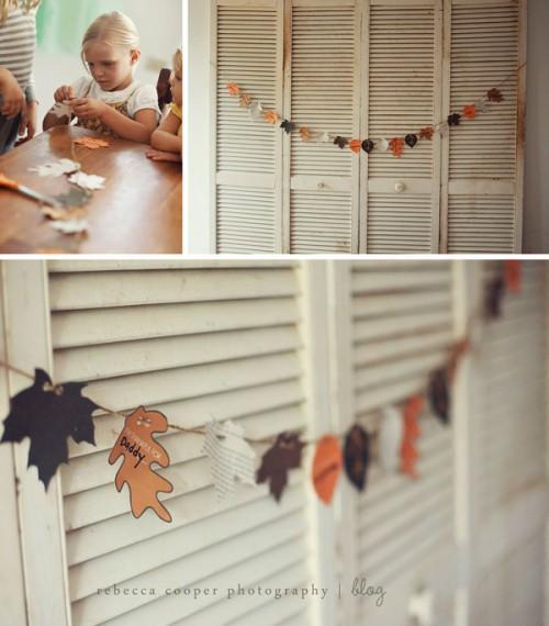 Paper Leaf Thanksgiving Garland