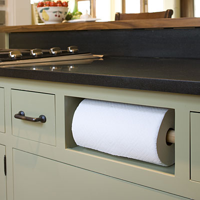 Cool Kitchen Upgrade – Paper Towel Holder Instead Of A Drawer
