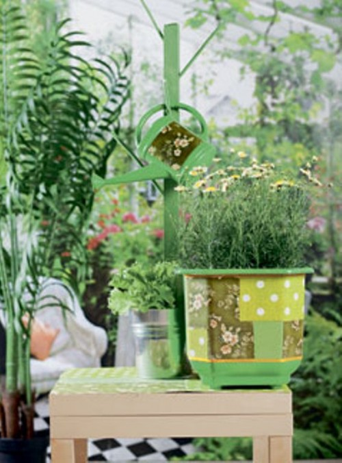 How To Decorate A Planter In Patchwork Style