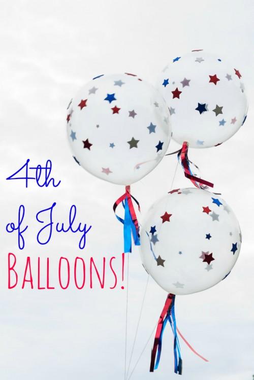 Patriotic 4th Of July Diy Balloons