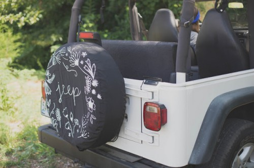 Patterned DIY Jeep Tire Cover