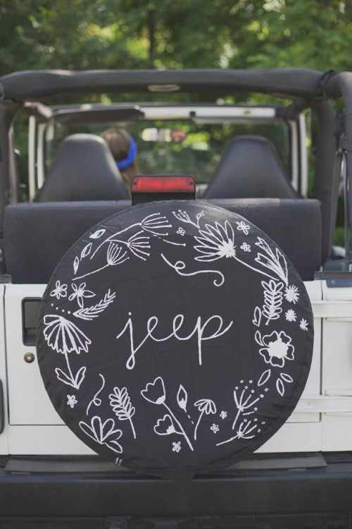 Patterned Diy Jeep Tire Cover Shelterness