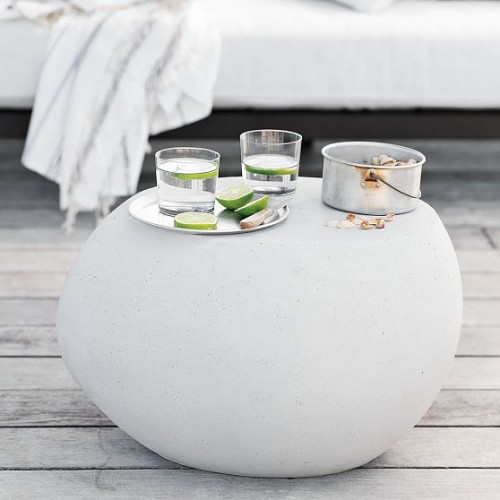 Sensualy Pebble Side Table For Outdoor Use
