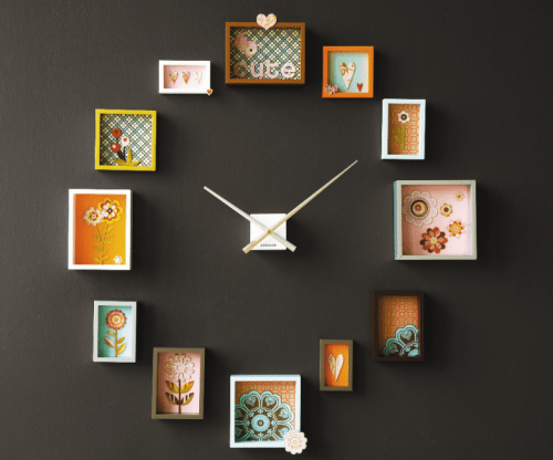 cute photo frame clock shelterness - Diy Photo Frames