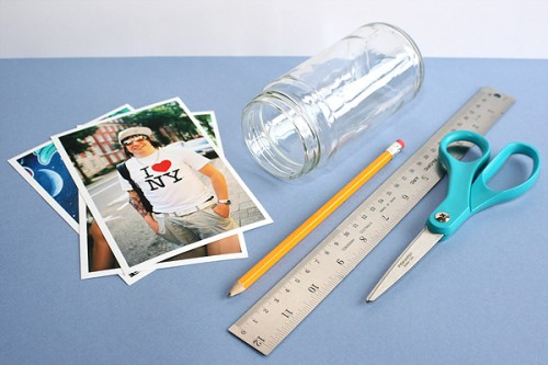 Photo Frames Out Of Glass Jars