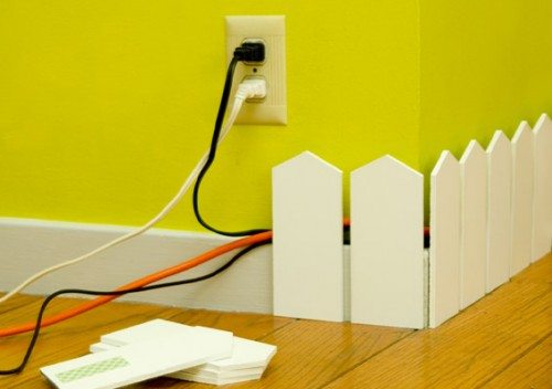 Creative And Stylish Solution To Hide Electrical Wires Cluttering a Room