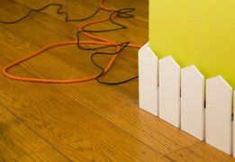 Picket Fence To Hide Cords