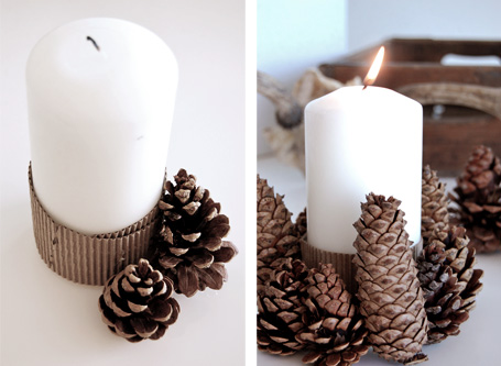 Pine Cones Candle Holder