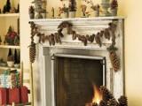 Pinecone Fireplace Garland