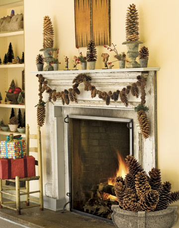 Pinecone Fireplace Garland