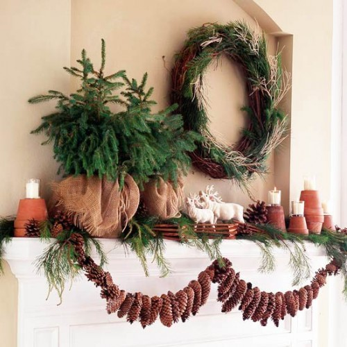 Pinecone Mantel Garland