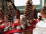 Pinecone Trees Centerpiece