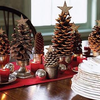 Pinecone Trees Centerpiece