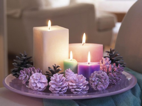 10 Ideas Of Pine Cones And Candles Arrangements