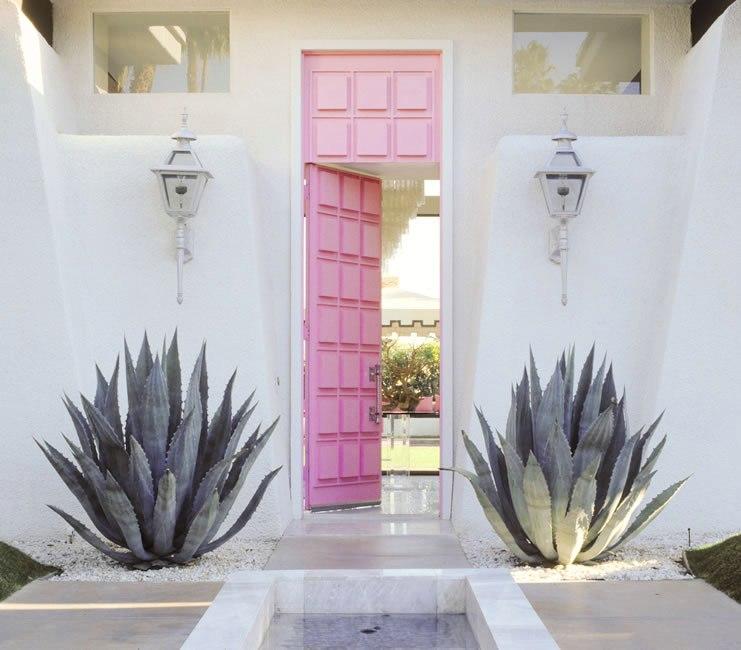 Pink Front Door Design