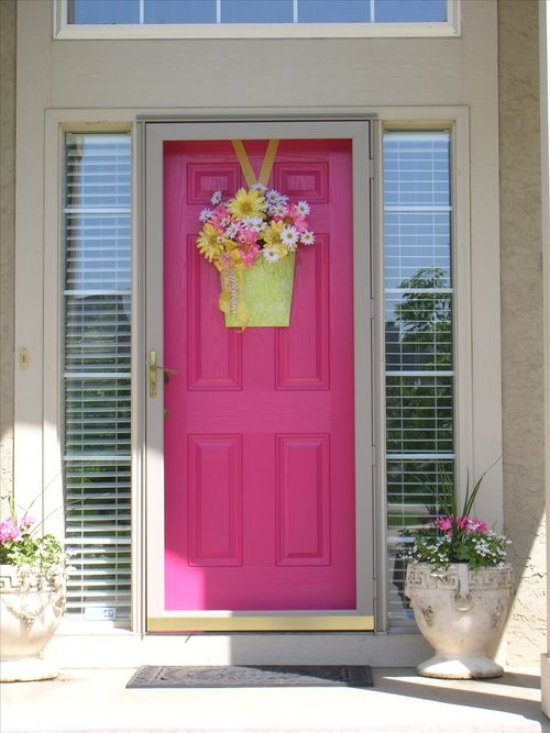 15 Pink Front Door Designs That Inspire Shelterness