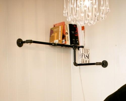 Pipe Corner Bookshelf