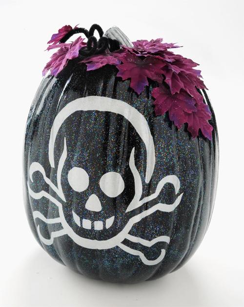 Halloween Pumpkin Head That Reminds a Pirate Flag
