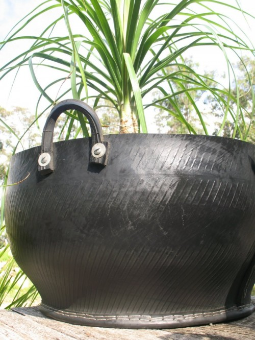 Planters Of Recycled Tyres