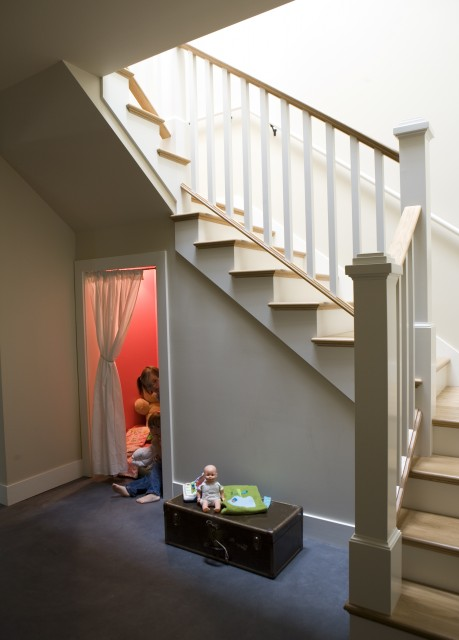 picture of play space under stairs