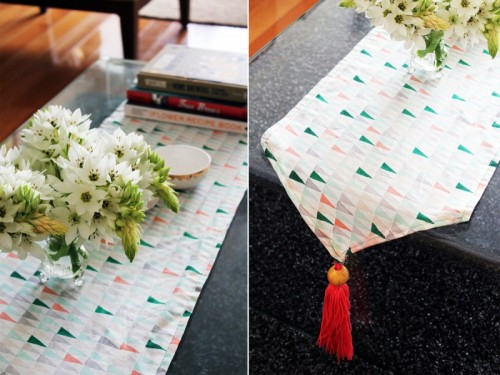 tassel table runner (via makerssociety)