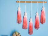 ombre wall tassels