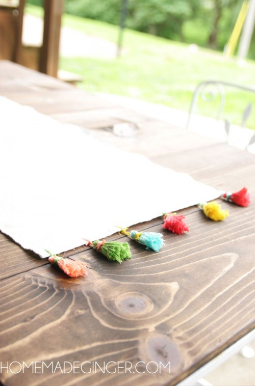 tassel table number (via homemadeginger)