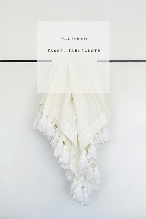 tassel tablecloth (via fallfordiy)