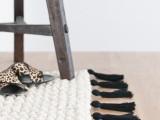 giant tassel fringe rug