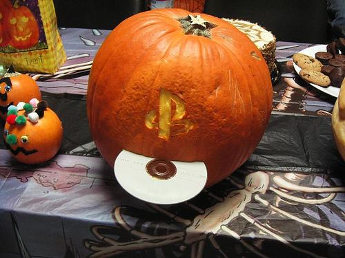 Playstation Pumpkin Face