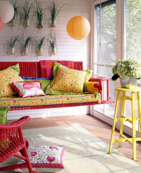 17 Lively Shabby Chic Garden Designs That Will Relax And: 33 Creative Porch Decorating Ideas