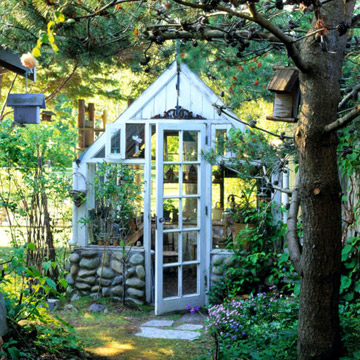 Potting Shed With Fieldstone Foundation