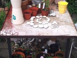 Potting Station On A Small Table