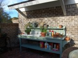 Potting Station With A Small Shed Roof