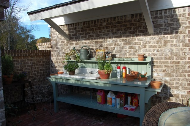 Picture Of Potting Station With A Small Shed Roof