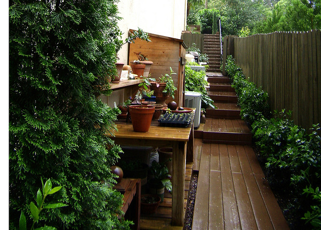 Potting Table In A Garden