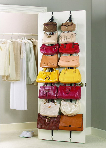 long vertical bag holders take the whole door space but it will be closed and you won't see any of these