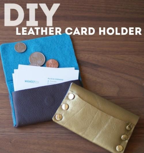 simple leather card holder (via shelterness)