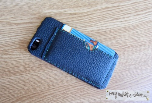 mobile cover and card holder (via mywhiteideadiy)