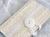 vintage lace card holder