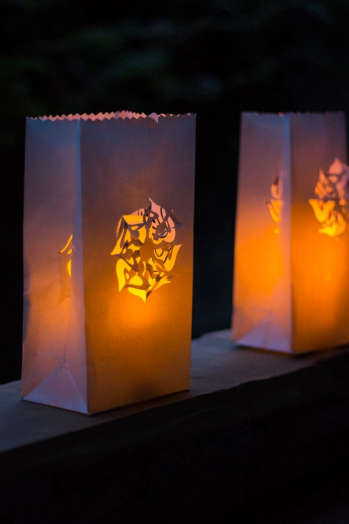 Pretty And Easy Diy Paper Punch Luminaries